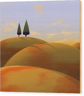 Toscana 1 Wood Print by Cynthia Decker