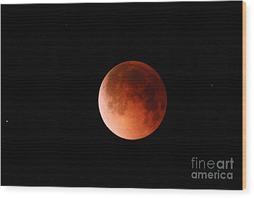 Total Lunar Eclipse Wood Print by Stephen & Donna O'Meara
