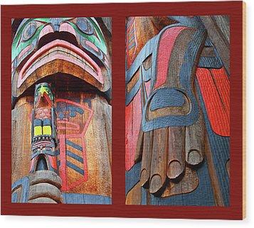 Totem 2 Wood Print by Theresa Tahara