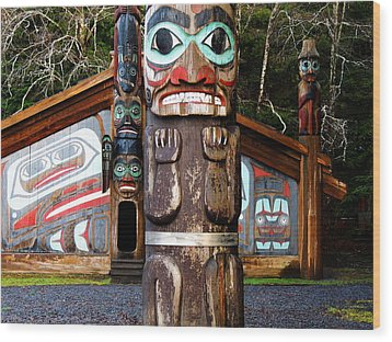 Wood Print featuring the photograph Totem Bight by Karen Horn