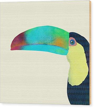 Toucan Wood Print by Eric Fan