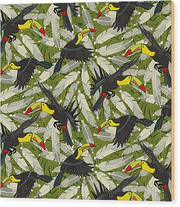 Toucan Jungle Wood Print