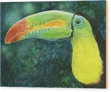 Toucan Wood Print by Sandra LaFaut