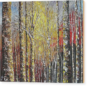 Touch Of Gold Wood Print by Shilpi Singh