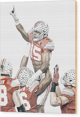 Touchdown Wood Print by Bobby Shaw