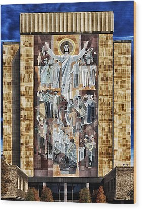 Touchdown Jesus Wood Print by Mountain Dreams