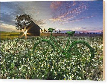 Tour De France Wood Print by Debra and Dave Vanderlaan