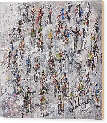 Tour De France Stage 2 Wood Print by Neil McBride