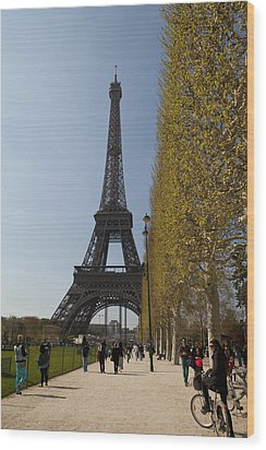 Tour Eiffel 6 Wood Print by Art Ferrier