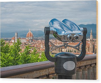 Touristic Florence Wood Print