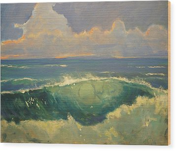 Tourmaline Surf Wood Print by Jim Noel