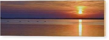 Tours End - Kayak Sunset Photo Wood Print by William Bartholomew