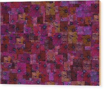 Toward Square Wood Print by Jack Zulli
