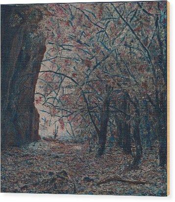 Toward The Light Wood Print by Carla Woody
