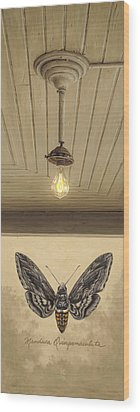 Wood Print featuring the painting Toward The Light by Ron Crabb