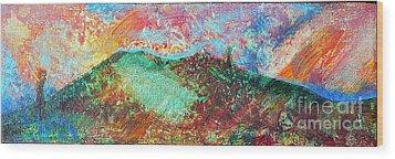 Towards The Sea Wood Print