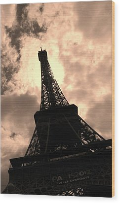 Tower And The Sky Wood Print