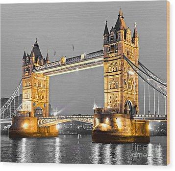 Tower Bridge - London - Uk Wood Print by Luciano Mortula
