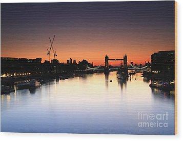 Tower Bridge 2 Wood Print by Mariusz Czajkowski
