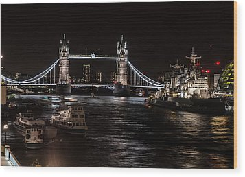 Tower Bridge London England Wood Print by John Hastings
