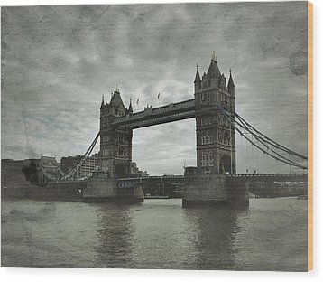 Tower Bridge In London Over The Thames Wood Print by John Colley