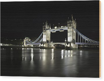 Tower Bridge London Wood Print by Gouzel -