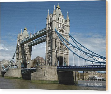 Tower Bridge London Wood Print by Heidi Hermes