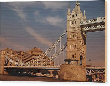 Tower Bridge Sunset Wood Print by Jonah  Anderson