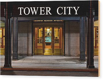 Tower City Cleveland Ohio Wood Print by Frozen in Time Fine Art Photography