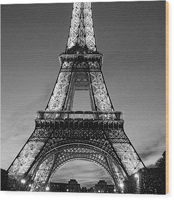 Tower Glow Wood Print