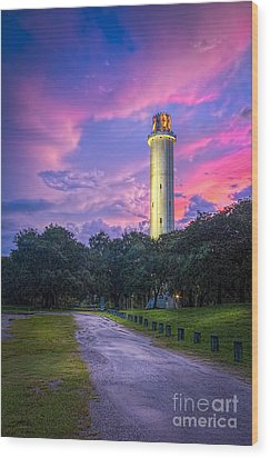 Tower In Sulfur Springs Wood Print by Marvin Spates