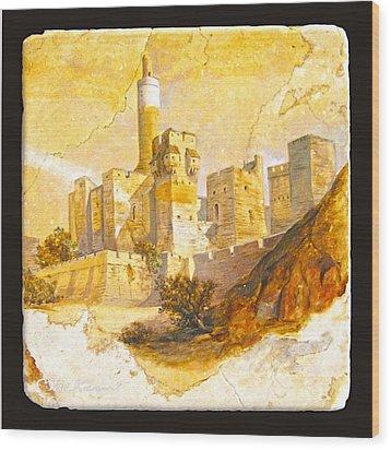 Tower Of David Wood Print