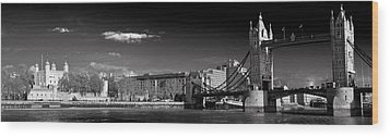 Tower Of London And Tower Bridge Wood Print by Gary Eason