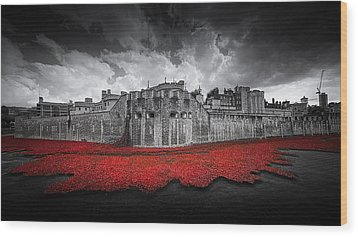 Tower Of London Remembers Wood Print by Ian Hufton