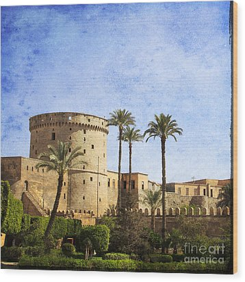 Tower Of Mohamed Ali Citadel In Cairo Wood Print by Mohamed Elkhamisy
