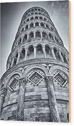 Tower Of Pisa Wood Print by Kim Andelkovic