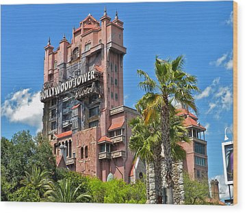 Tower Of Terror Wood Print by Thomas Woolworth