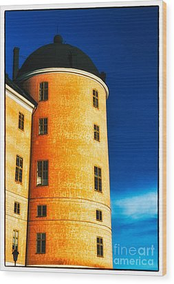 Tower Of Uppsala Castle - Sweden Wood Print by David Hill