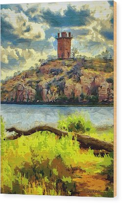 Tower On The Bluff Wood Print by Jeffrey Kolker