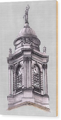 Tower Over City Hall New York City Wood Print by Gerald Blaikie