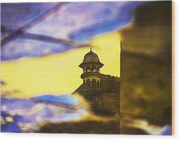 Tower Reflection Wood Print
