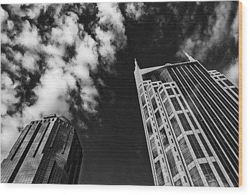 Tower Up Wood Print by CJ Schmit