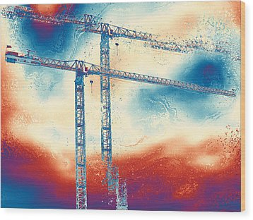 Towering 3 Wood Print by Wendy J St Christopher