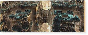 Towers Wood Print by Bernard MICHEL