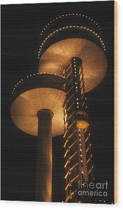 Towers Of Light Wood Print by ELDavis Photography