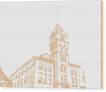 Wood Print featuring the photograph Town Hall Lancaster Ny by Jim Lepard