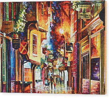 Town In England Wood Print by Leonid Afremov