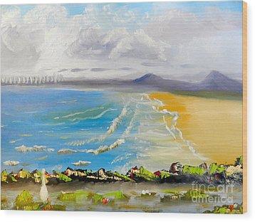 Towradgi Beach Wood Print by Pamela  Meredith