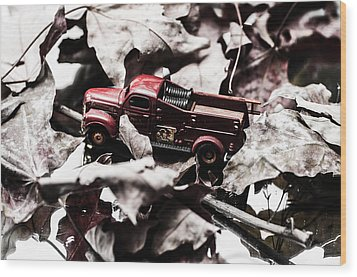 Toy Fire Truck Wood Print