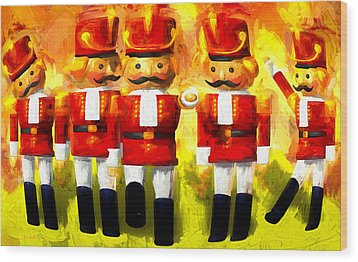 Toy Soldiers Nutcracker Wood Print by Bob Orsillo